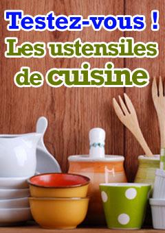 Exercice : Les ustensiles de cuisine