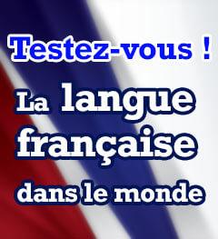 Exercice : La langue française dans le monde