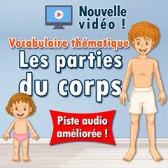 Découvrez les parties du corps ! - Vocabulaire français thématique